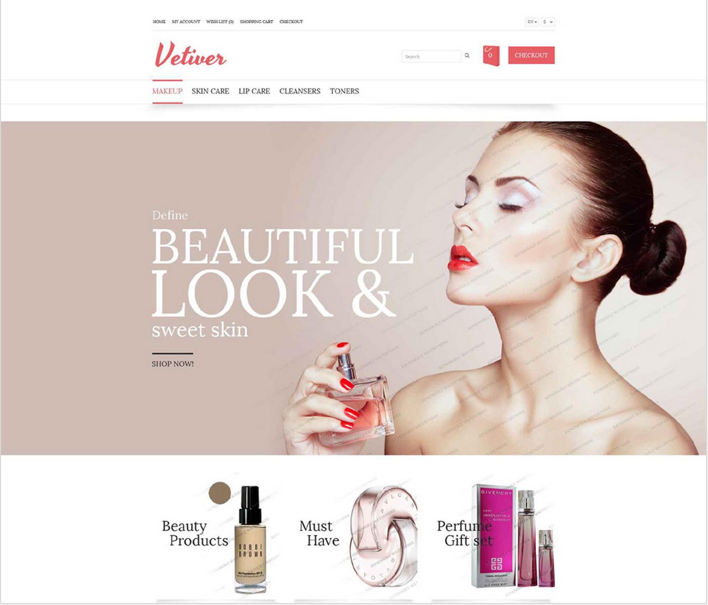 Cosmetics Store theme opencart