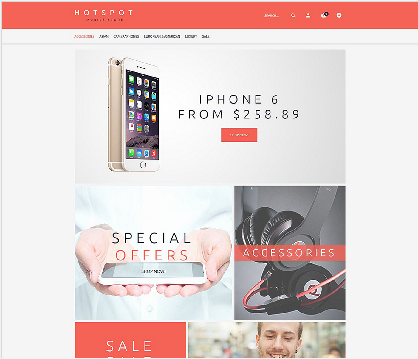 Mobile Shop theme opencart