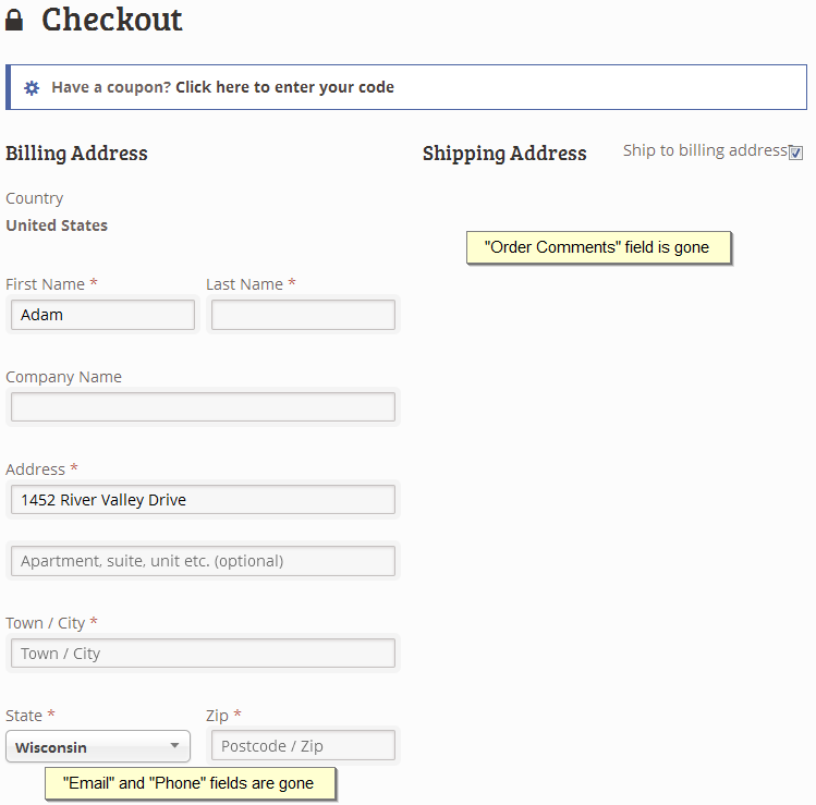 remove-multiple-fields-from-woocommerce-checkout